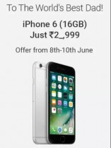 Apple iPhone 6 16 GB from Rs. 21999 – Flipkart [Live at 8th June] – Father's Day Special