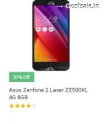 Asus Zenfone 2 Laser ZE500KL 4G 8GB @ Rs.7999 – Snapdeal & Flipkart