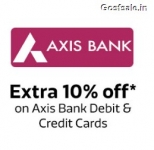 Axis Bank December Offers : Flat 10% off on Flipkart ( Suggestions Added )