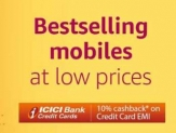 Mobiles upto 40% off + 10% off on Rs. 5000 – Amazon