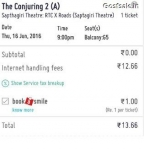 Bookmyshow loot – Book Conjuring- 2 Movie tickets Absolutely Free (Only Hyderabad) :