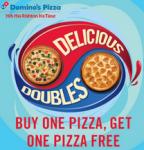 Dominos Pizza Buy 1 Get 1 Free + 15% Cashback