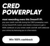 CRED Powerplay | Cred IPL Power Play – Pay During Powerplay :  Chance to Win 100% Cashback