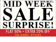 Clothing & Footwear 50% off + 20% off on Rs. 995 – Abof