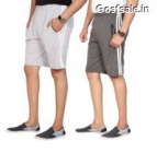Combo of 2 Swaggy Solid Mens Shorts @ Rs.99  + Free Shipping – Shopclues