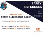 CourseKart Refer and Earn : 100 Ck Cash For Every Referral + Free Paytm,Flipkart & Amazon Vouchers