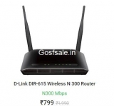 D-Link DIR-615 Wireless N 300 Router @ Rs.799 : Flipkart Big Billion Days
