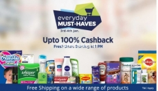 Everyday Must Haves 100% Cashback – PayTm 100% Cashback Offer