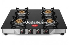Flat 59% off on Pigeon Ultra Glass, Stainless Steel Manual Gas Stove  (4 Burners) @ Rs.2999 – Flipkart