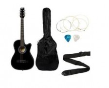 Flat 74% off on Intern INT-38C Acoustic Guitar Kit, Black  @ Rs.1829 – Amazon India