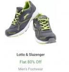 Flat 80% Off on Lotto & Slazenger Men's Footwear – Flipkart Big 10 Sale