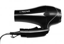Flat 80% off on Nova Foldable Professional Hair Dryer (Black) @ Rs.399 – Flipkart