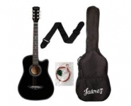 Flat Rs.5000 off on Juarez JRZ38C 6 Strings Acoustic Guitar 38 Inch Cutaway @ Rs.1990 – Amazon