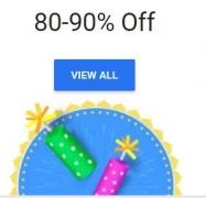 FlipKart 80% – 90% off Store