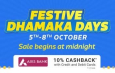 FlipKart Festive Dhamaka Days : 5th – 8th October