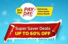 FlipKart Pay Day – Upto 60% + Extra 10% Off