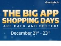Flipkart Big App Shopping Days – 21st December – 23rd December : 21st Dec Offers