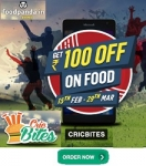 Foodpanda Cricbites – Rs.100 OFF On Rs.300+ Orders (All User)