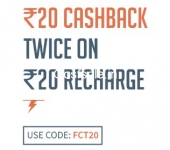 FreeCharge FCT20 Promo Code – Rs.20 Cashback on Rs.20 Recharge on Freecharge App