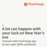 Freecharge New Year Offer : 200% Cashback on Recharge – NY2016 Coupon