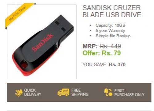 99406c0ce65 GET 16GB Pendrive For Just Rs.79 - First Order on Ebay - MyFirstTime ...