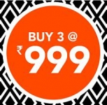Get 3 Products For 999 – Jabong Gosf 14