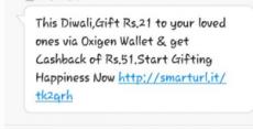 Oxigen 21 Offer : Gift Rs. 21 And Get Rs. 51 Cashback – Oxigen Wallet ( Proof Added )