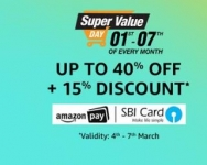 Grocery, Personal Care, Baby Care, Household Supplies, Pet Supplies upto 50% off + upto 15% off – Amazon Super Value Day