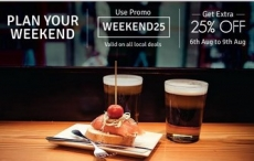 Groupon Local Deals India : Groupon Weekend Deals 25% off + 1% off