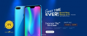 Flash Sale – Honor 9N  @ Rs.1 : Honor Rs.1 Flash Sale | 31st July – 11:30 AM & 3PM