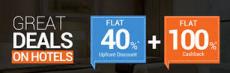 Hotels 60% off + 40% Cashback – GoIbibo