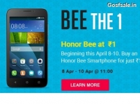 Huawei Honor Bee Rs.1 Sale : Huawei Honor Bee Flash Sale Rs.1 : 8th – 10th April