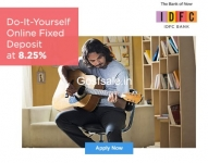 IDFC BANK 8.25 – Open a fixed deposit in 4 minutes & earn 8.25% interest from IDFC Bank