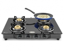 Ideale Quatre-T Steel Manual Gas Stove  (4 Burners) @ Rs.1999 ( 76% off ) – Flipkart