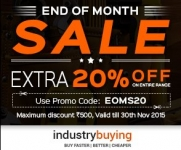 Industry Buying Extra 20% Off – Flat 20% off coupon