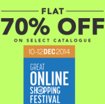 Flat 70% OFF on Clothing & Jewellery From Jabong