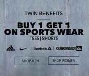 Jabong Buy 1 Get 1 Free Offer : Buy 1 Get 1 on Sports Wear – Jabong