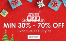 Jabong Christmas Sale : Jabong Christmas Weekend Sale – 30% – 70% off