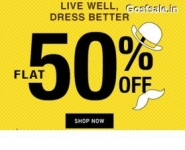 Jabong Flash On Sale : Minimum 30% off + 60% off + 10% Cashback : FLASH60 Promo Code