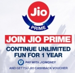 Jio Prime Cashback Offer – Jio Rs.50 Cashback on Recharge of Rs.99 – Jio Prime