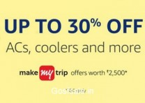Large Appliances upto 35% off + 10% Cashback on Rs. 10000 + Free Rs. 2000 MakeMyTrip Hotels Gift Card – Amazon