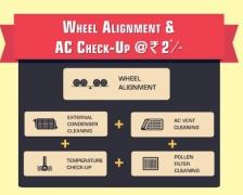 Loot : Car Wheel Alignment and AC Check-Up at Just Rs.2 – Mahindra First Choice