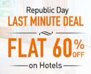 Makemytrip Republic Day Offer : Flat 60% OFF on Hotels