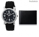 Maxima Ego Watch + Wallet + Greeting Card E-01093COMBO Rs. 269 – Amazon