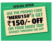Meru cab 150 Offer : MeruCabs Rs. 150 off Coupon