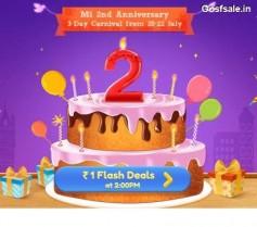 Mi Rs. 1 Flash Deals – Mi 22nd July Offer : Mi 2nd Anniversary Carnival