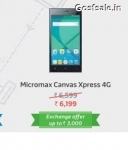 Micromax Canvas Xpress 4G Rs.6199 – Flipkart Big App Shopping Days