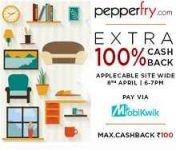 Mobikwik Wallet 100% Cashback Offer – Today 6PM – 7PM