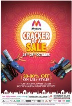 Myntra Cracker of a Sale 24th – 25th October : Myntra Diwali Sale – 24 October Offer