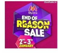 Myntra End Of Reason Sale : 2nd January Sale : Myntra EORS – 2nd & 3rd January